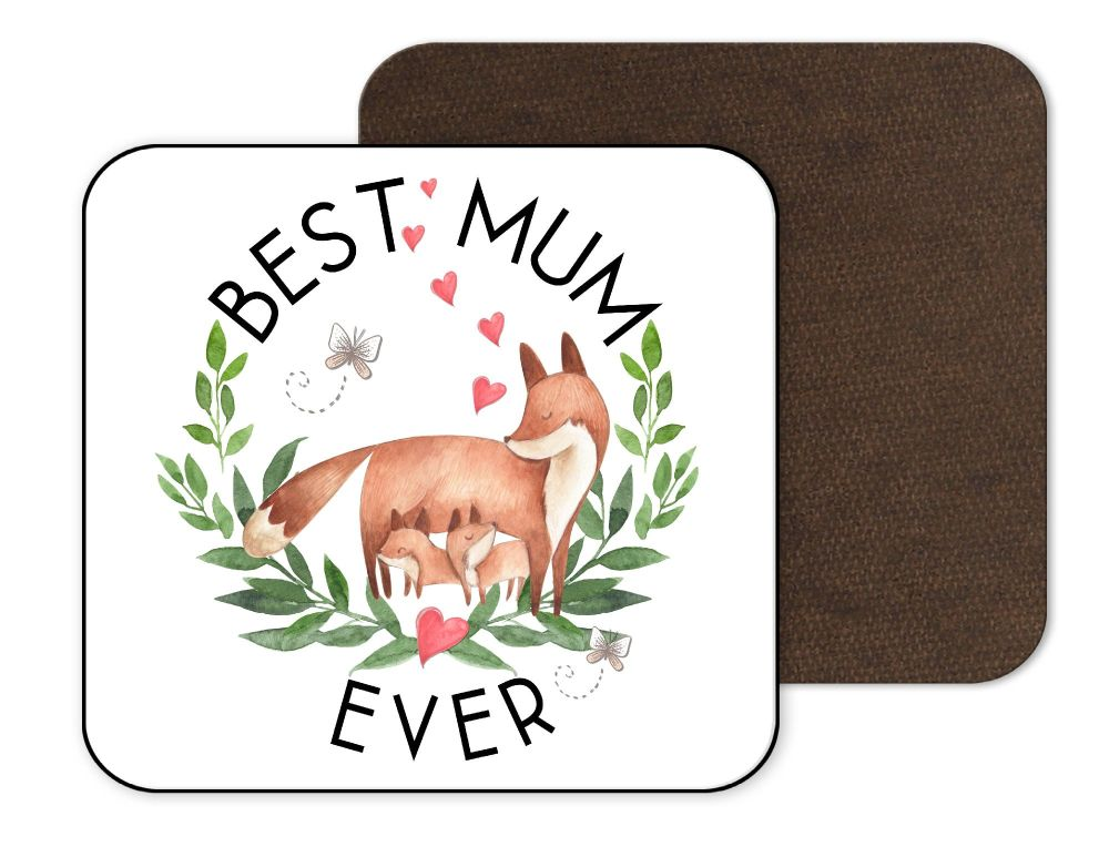 Best Mum Fox Coaster
