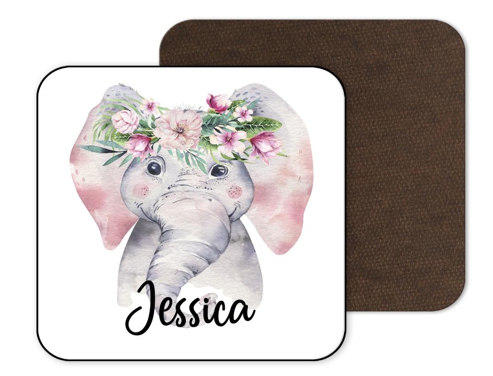Floral Elephant Coaster