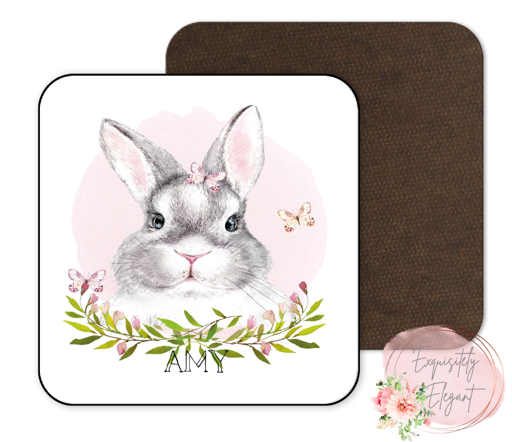 Floral Rabbit Coaster
