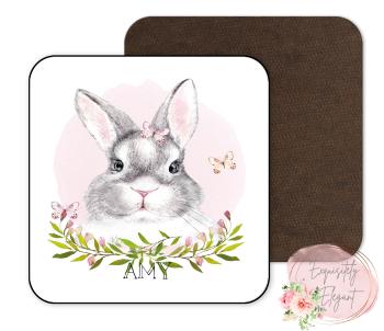 Floral Rabbit Coaster
