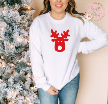 Reindeer Head Sweatshirt