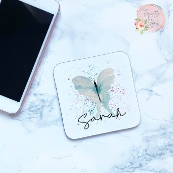 Watercolour Butterfly Coaster
