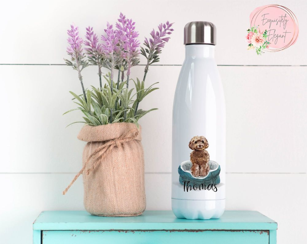 Brown Cockapoo Double Wall Bottle