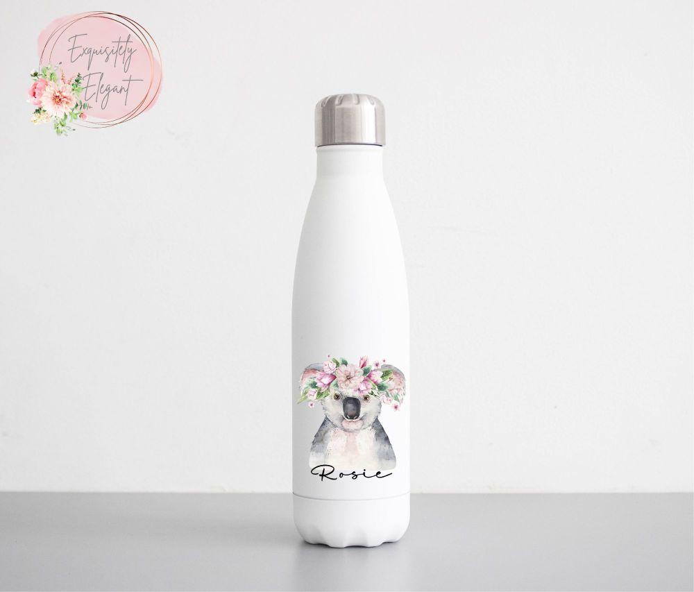 Floral Koala Double Wall Bottle