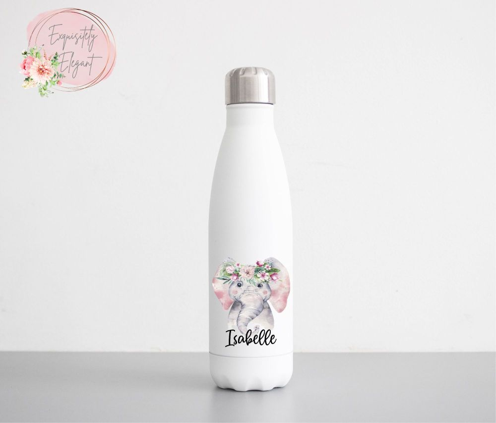 Floral Elephant Double Wall Bottle