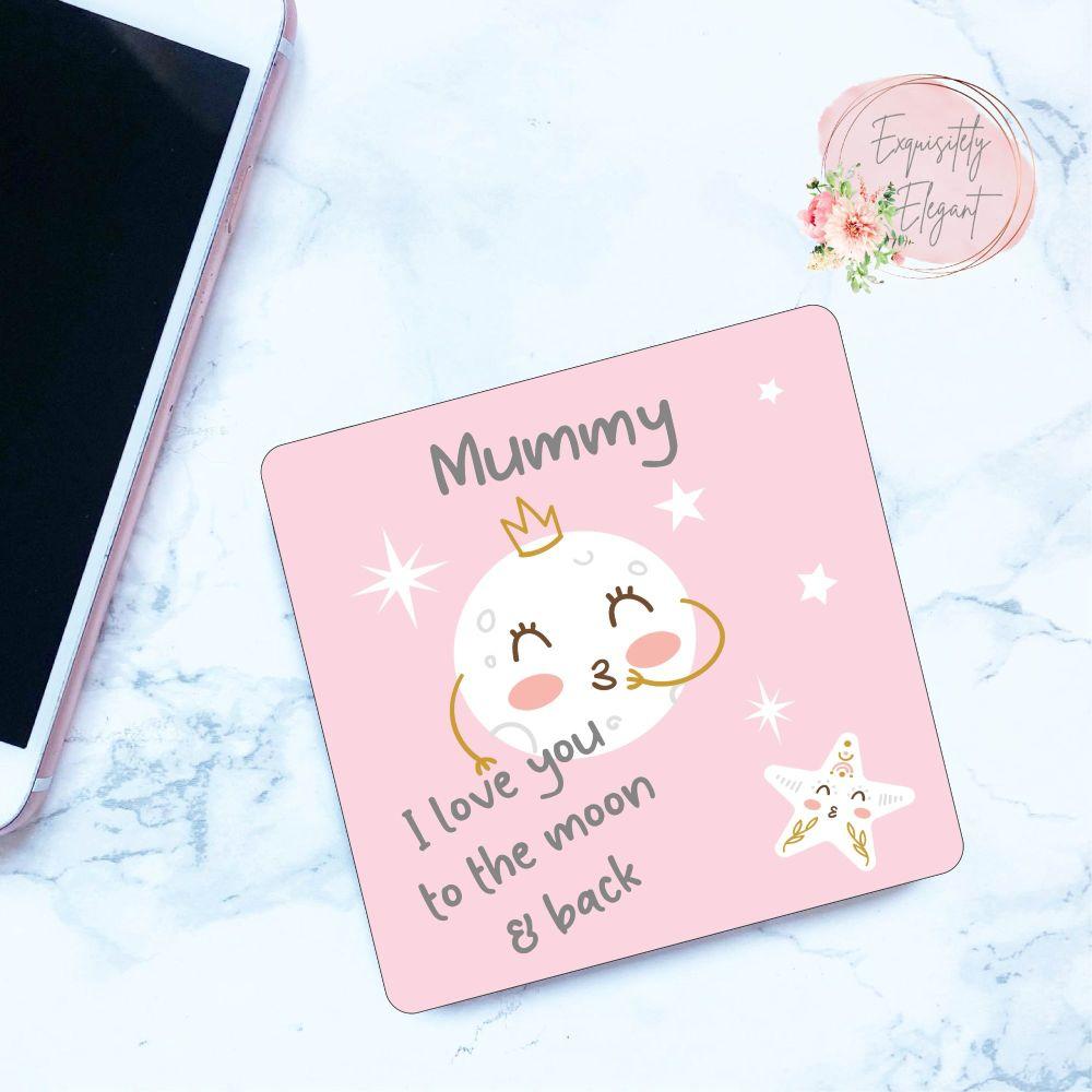Mummy Moon Coaster