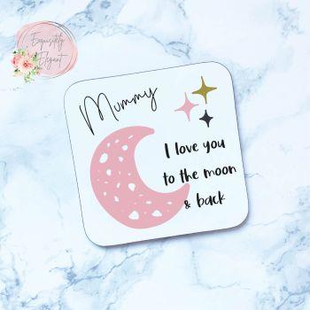 Mummy Moon & Stars Coaster