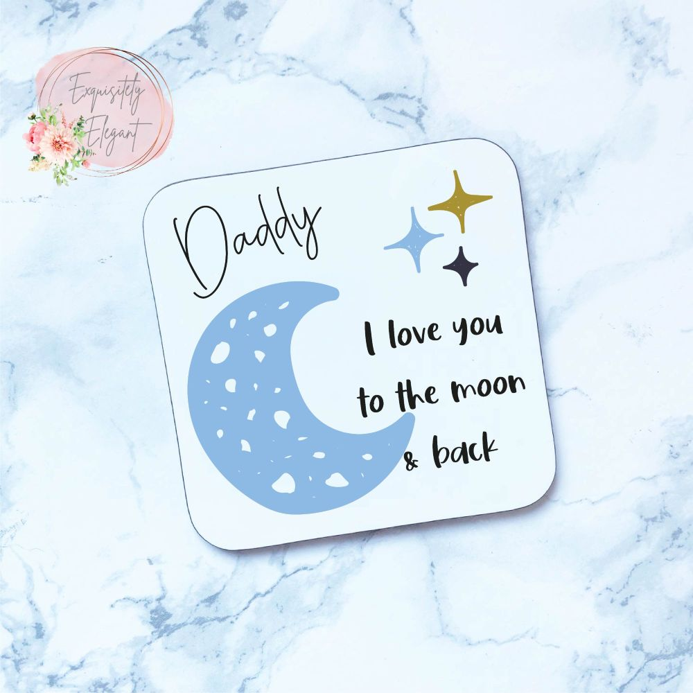 Daddy Moon & Stars Coaster