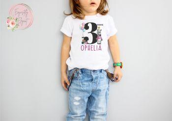 Personalised Kids Birthday Zebra Tee