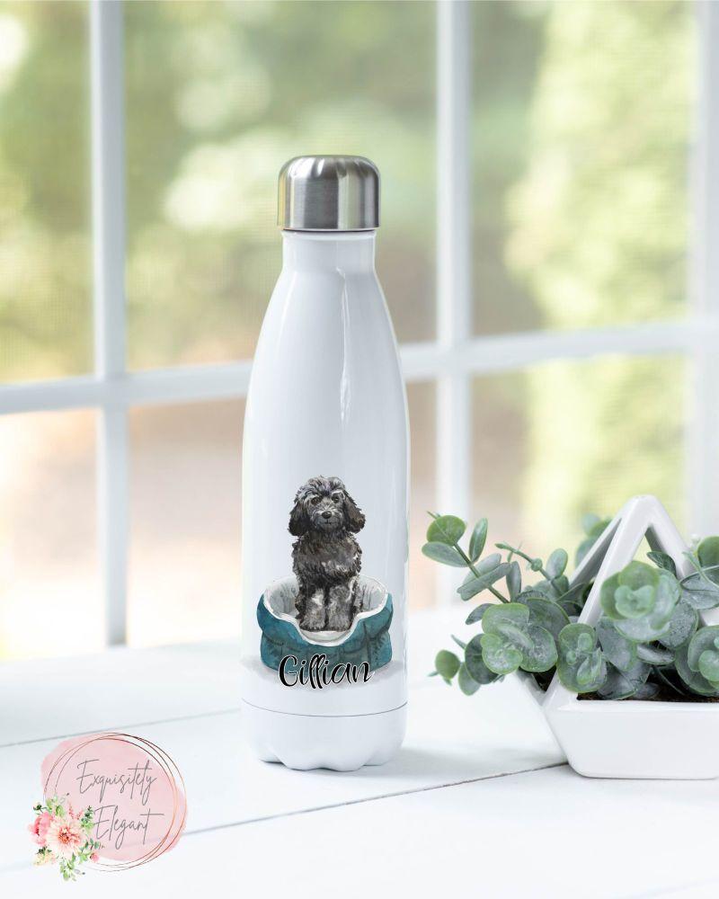 Black Cockapoo Double Wall Bottle
