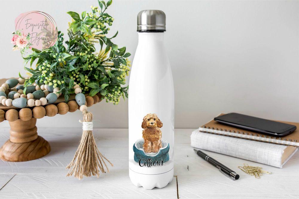 Golden Honey Cockapoo Double Wall Bottle