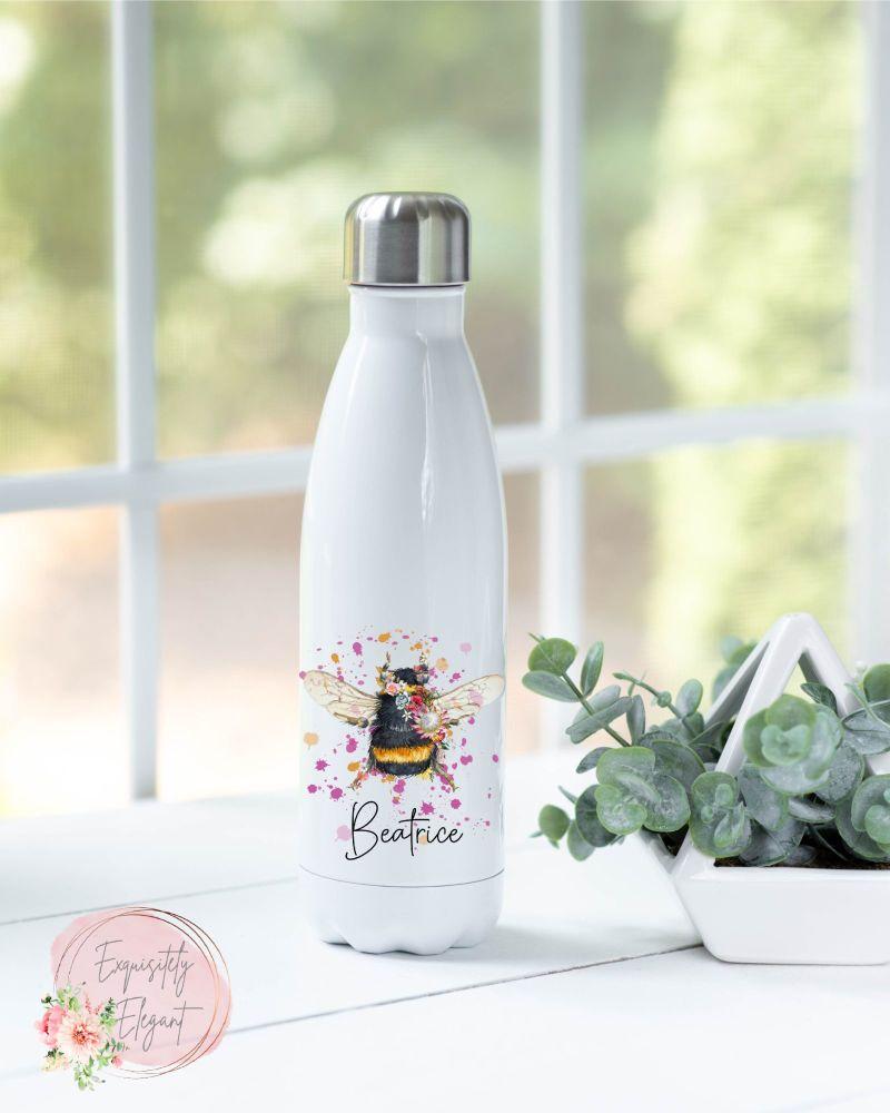 Flower Bumblebee Double Wall Bottle