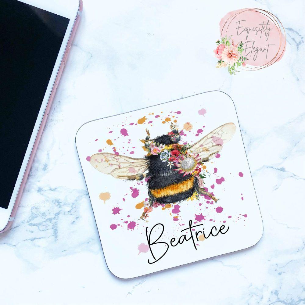 Flower Bumblebee Coaster