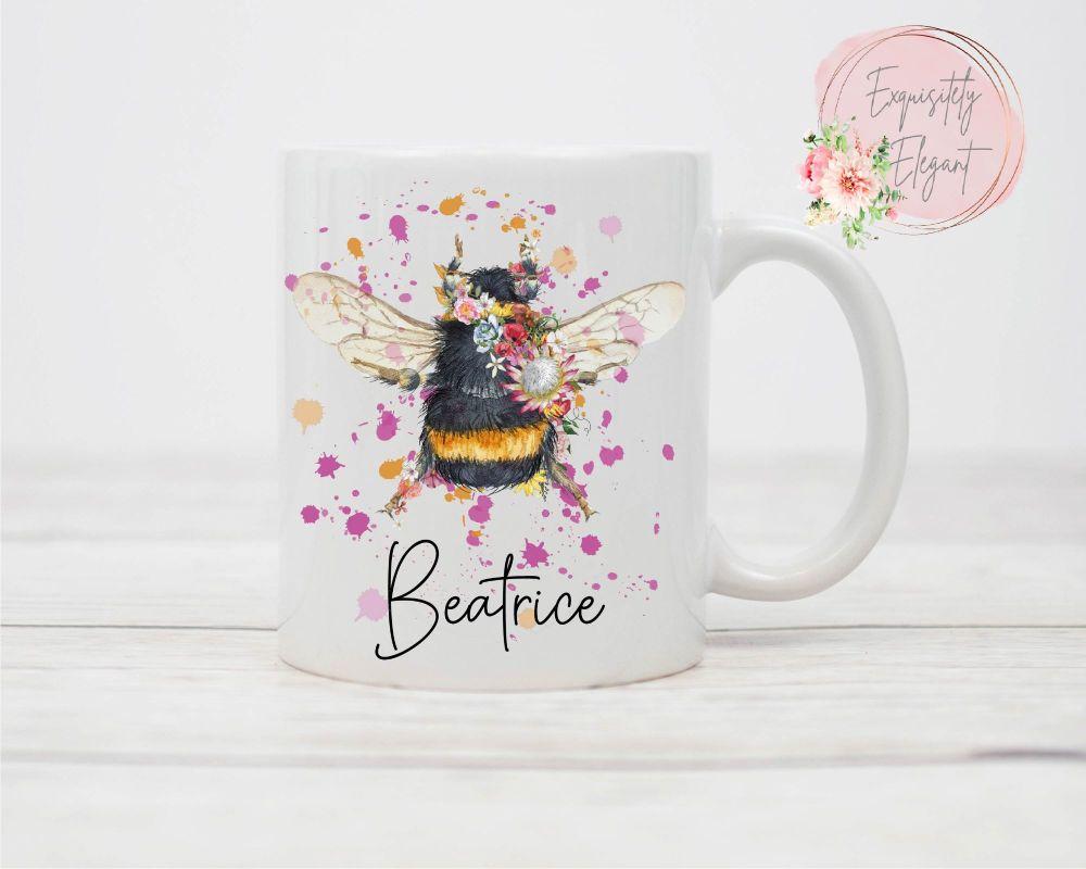 Flower Bumble Bee Mug