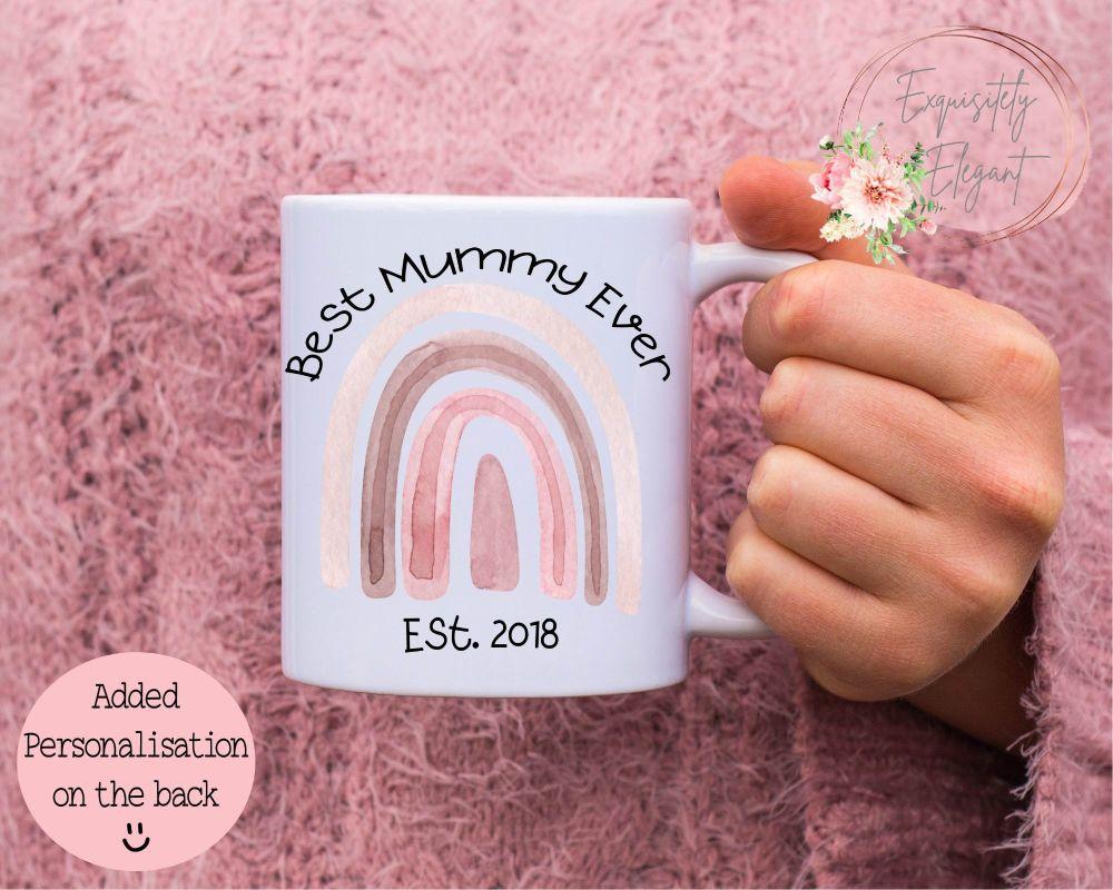 Pink Rainbow Mummy Mug