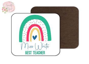 Rainbow Teacher Coaster