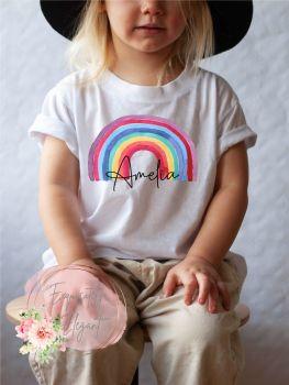 Personalised Kids Rainbow Tee