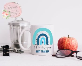 Teacher Rainbow Blue Mug