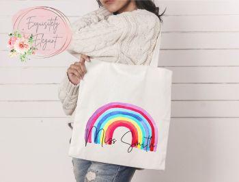 Watercolour Rainbow Tote Bag