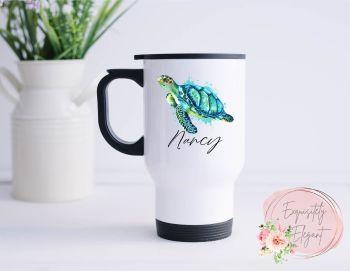Personalised Sea Turtle Travel Mug