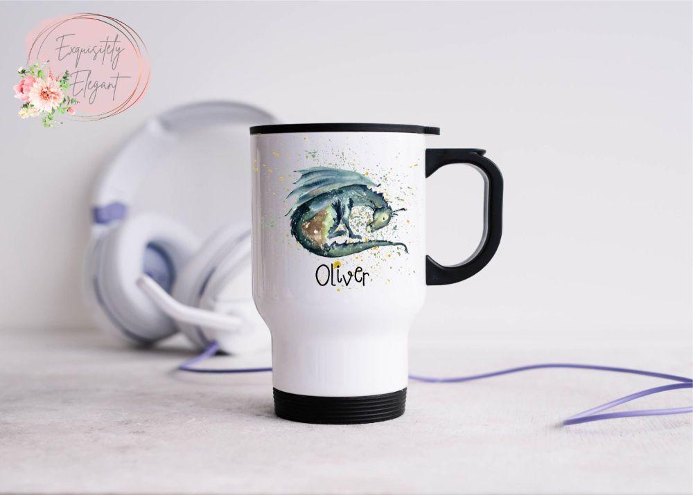 Personalised Dragon Travel Mug