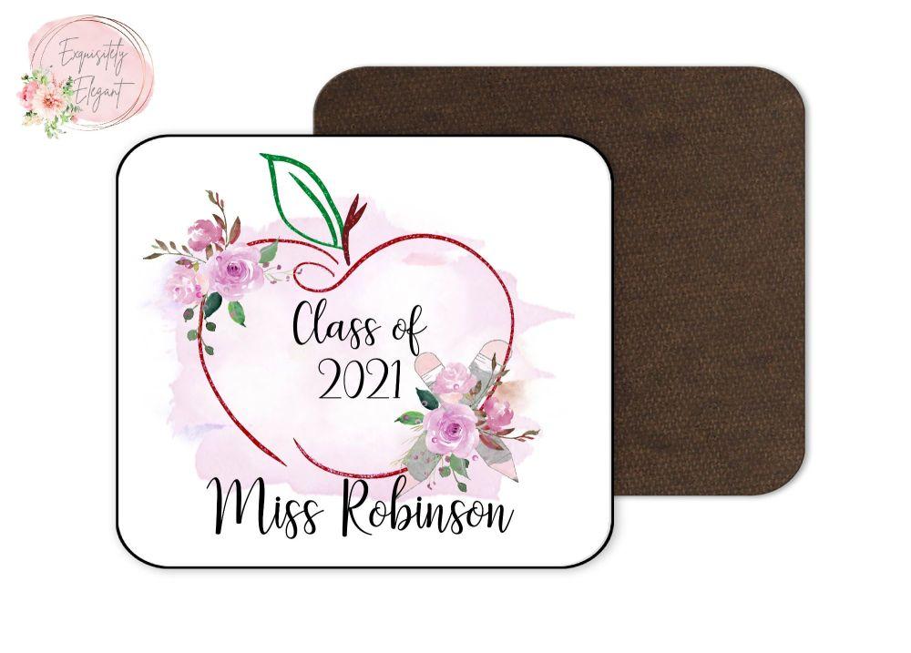 Apple Teacher Coaster