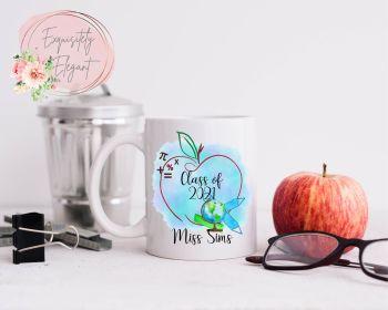 Blue Apple Design Teacher Mug