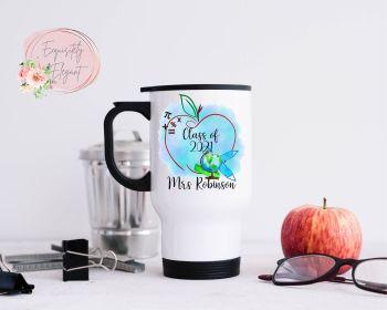 Blue Apple Teacher Travel Mug
