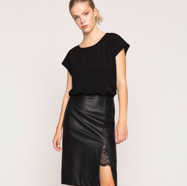 Twinset Leather Look Dress