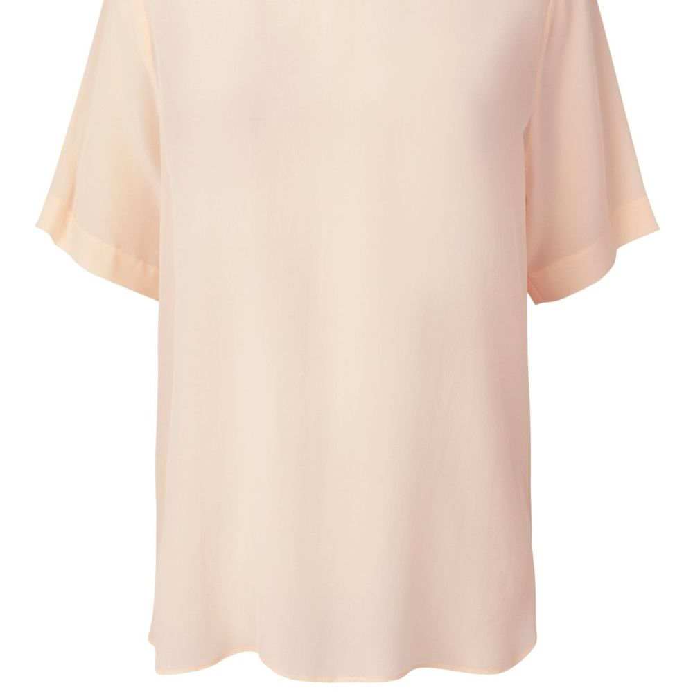 Second Female Tonga  Silk Top. Available in Black and Creme de Peche.