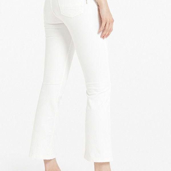 Ottod'Ame White Kick Flare Jeans