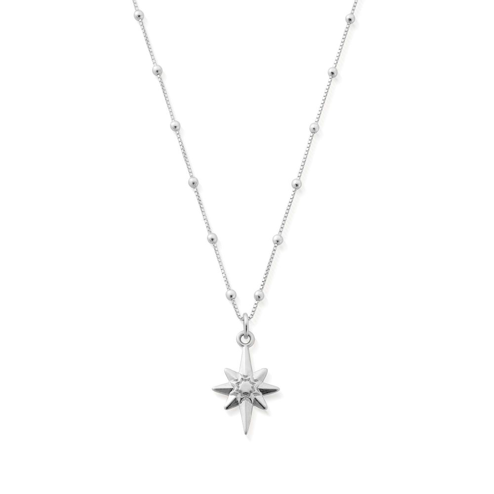 Bobble Chain North Star Necklace