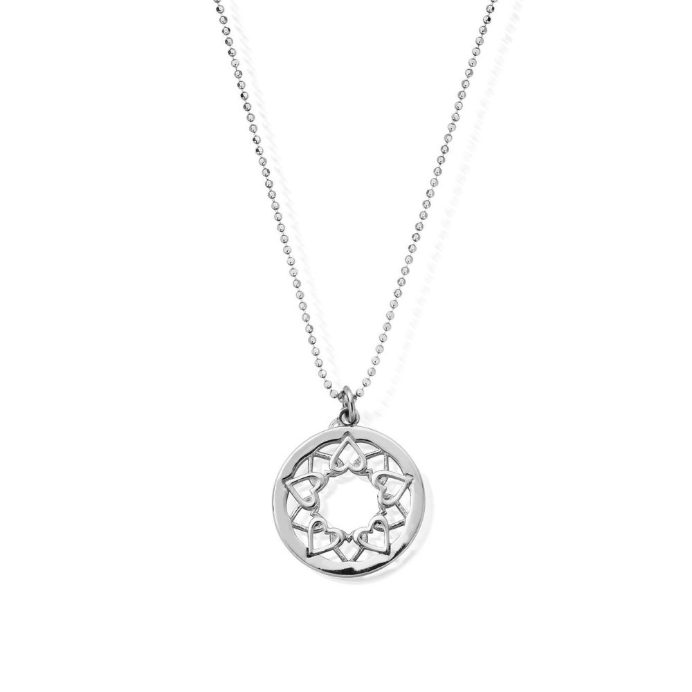 Diamond Cut Chain With Heart Mandala