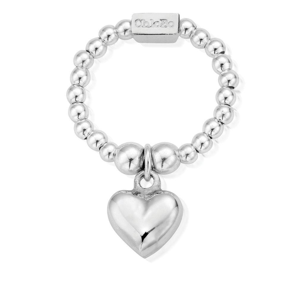 Mini Ring Puffed Heart