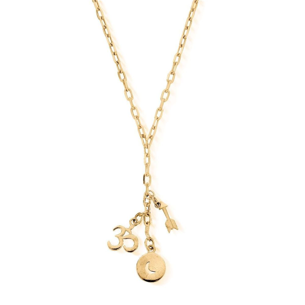 Strength of the Moon Necklace - gold