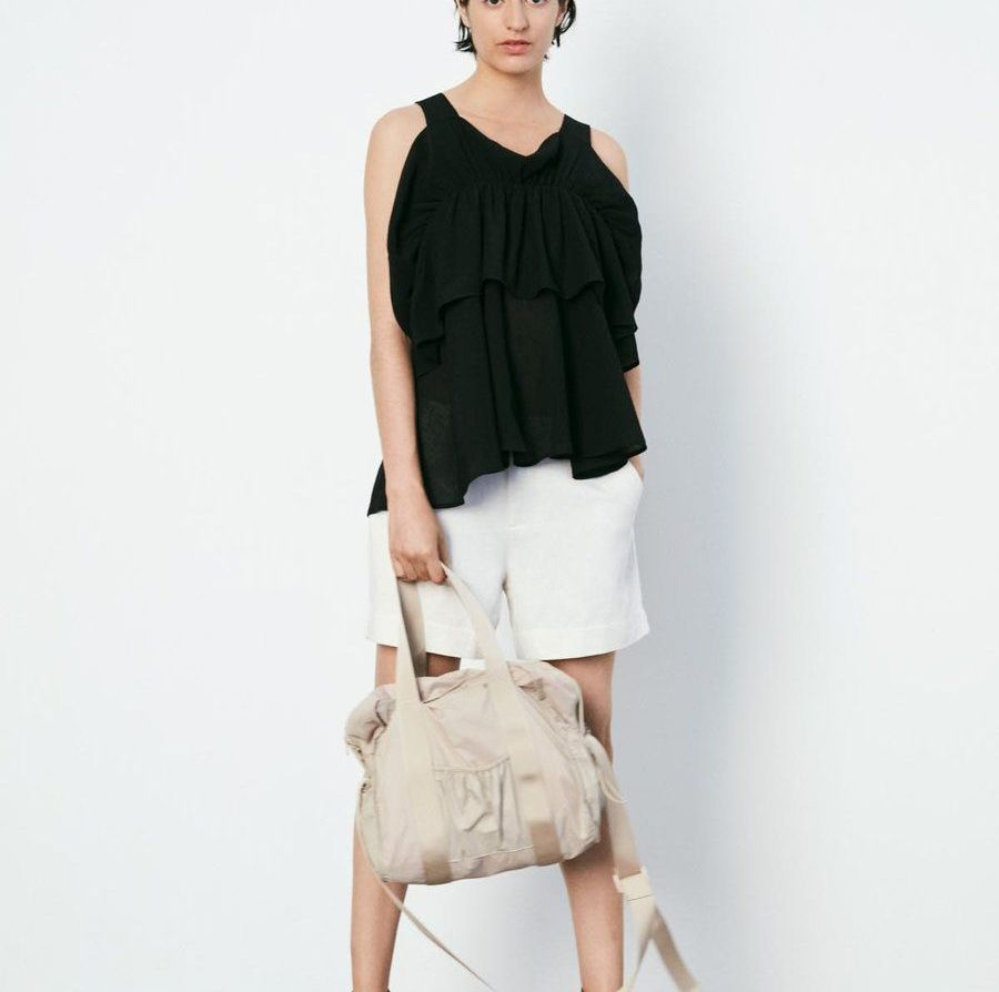Rabens Saloner Jeanine Airy Frill Top