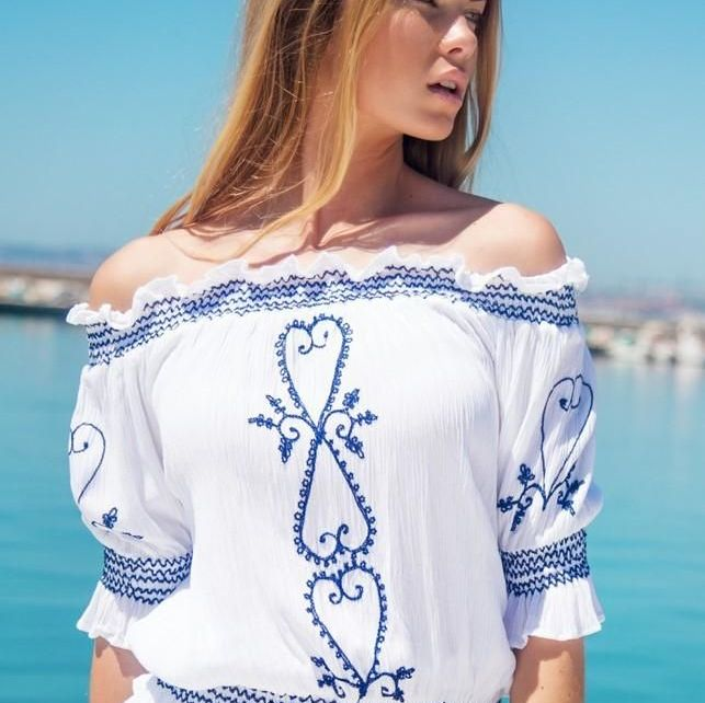 Lindsey Brown San Marino Bardot Top
