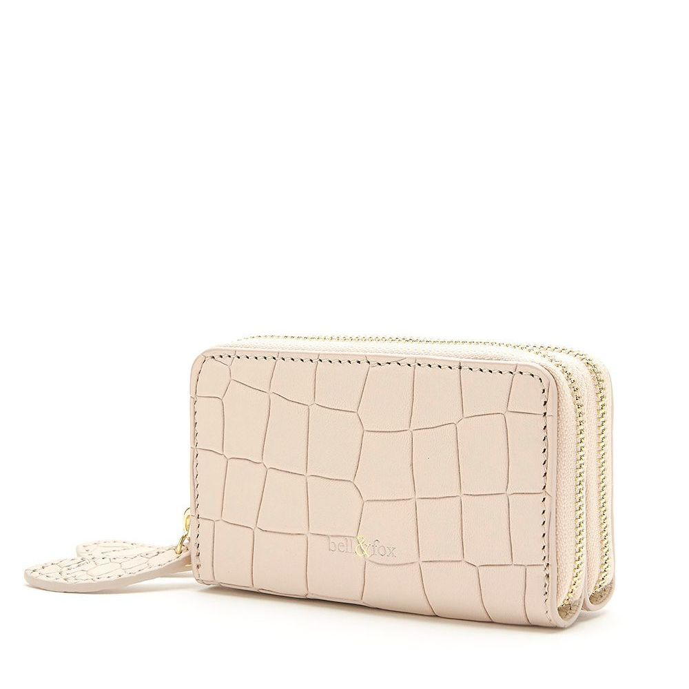 Bell & Fox Mini Double Zip Purse in Powder
