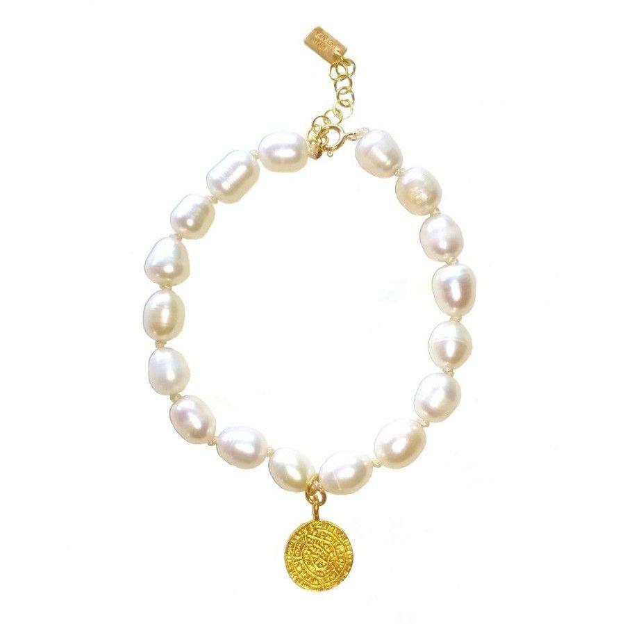 Pear Charm Beaded Bracelet