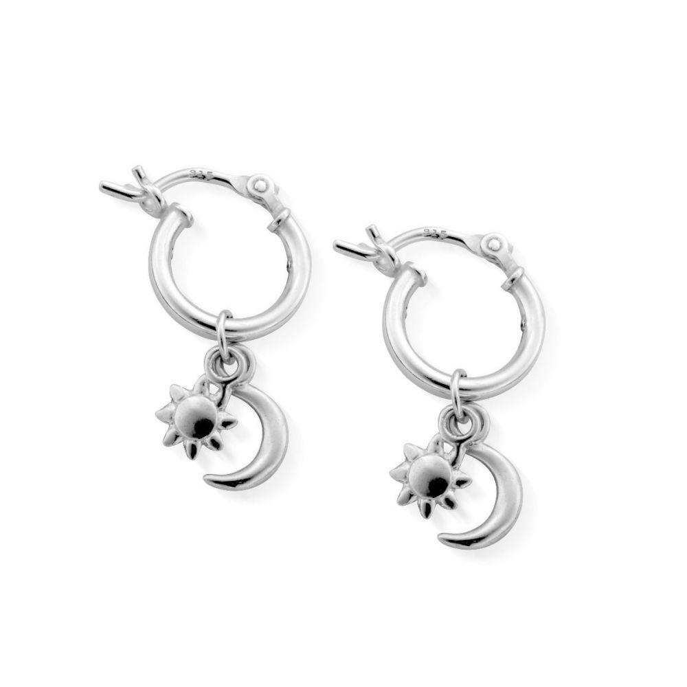 Chlobo Dainty Moon and Sun Earrings