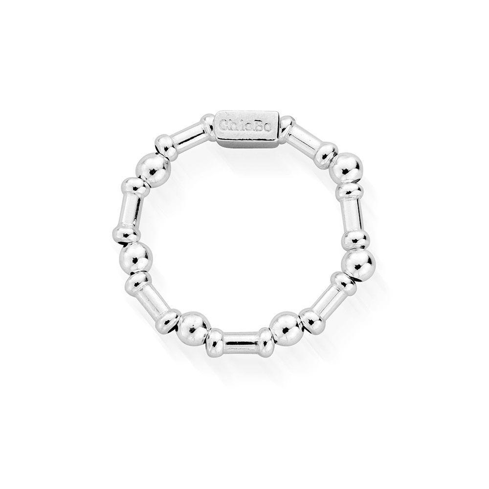 Chlobo Rhythm of Water Ring in Silver