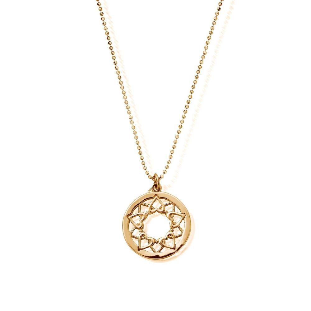 Chlobo Diamond Cut Pendant With Heart Mandala