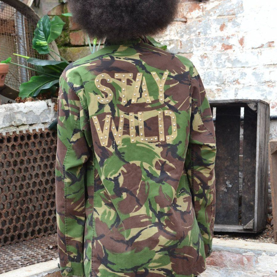 Bird and Wold Stay Wild Camo Jacket