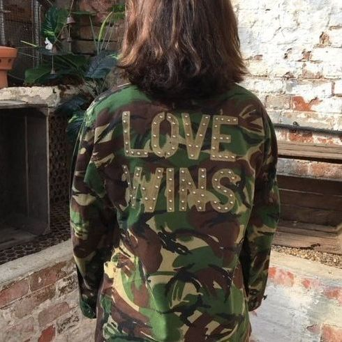 "Bird and Wolf ""Love Wins"" Camo Jacket"