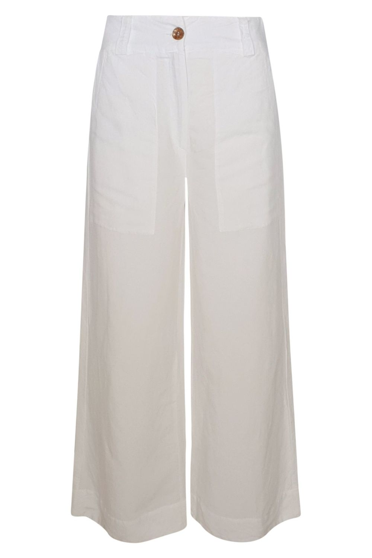 Haris Cotton White Flared Pants