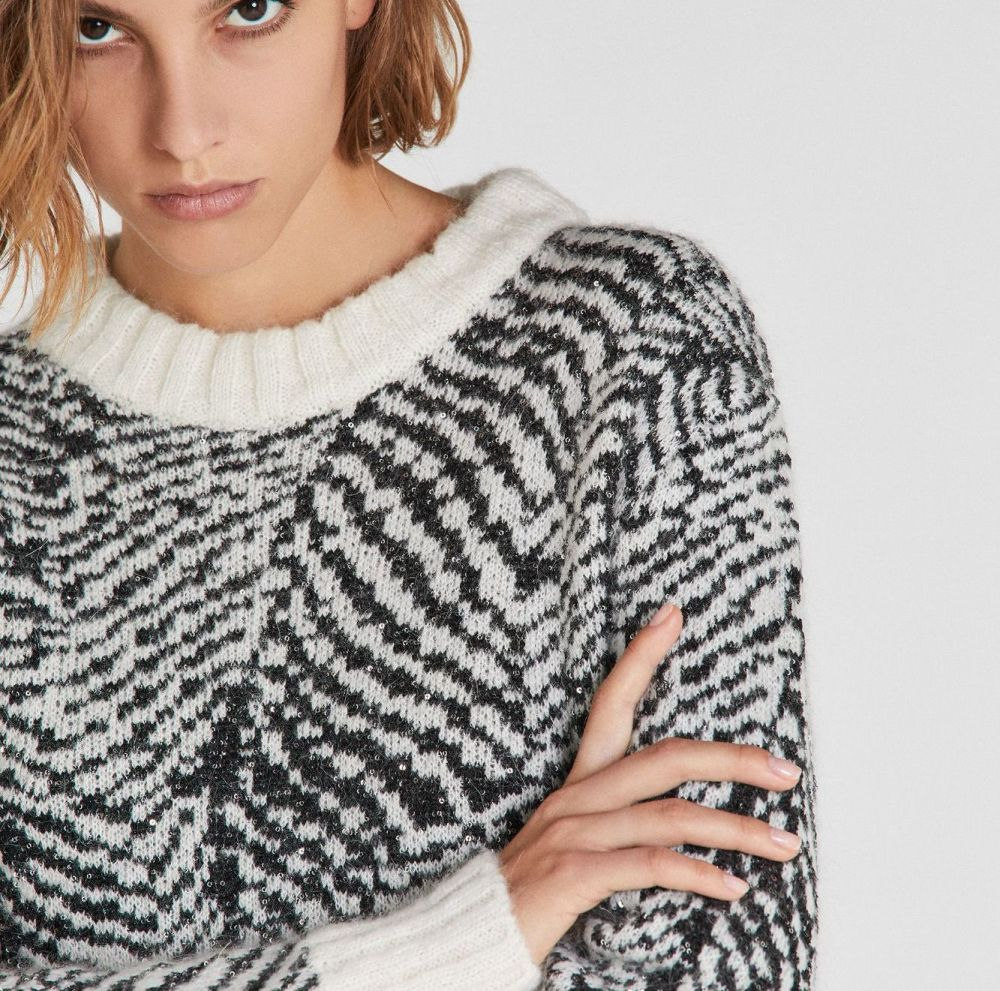 Patrizia Pepe Aboriginal Jacquard Sweater