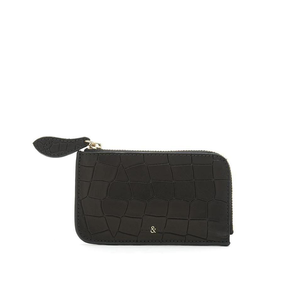 Bell & Fox FERN Leather Card Holder - Black Croc