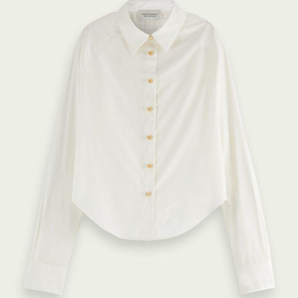 Scotch and Soda Smocked Raglan-Sleeved Shirt