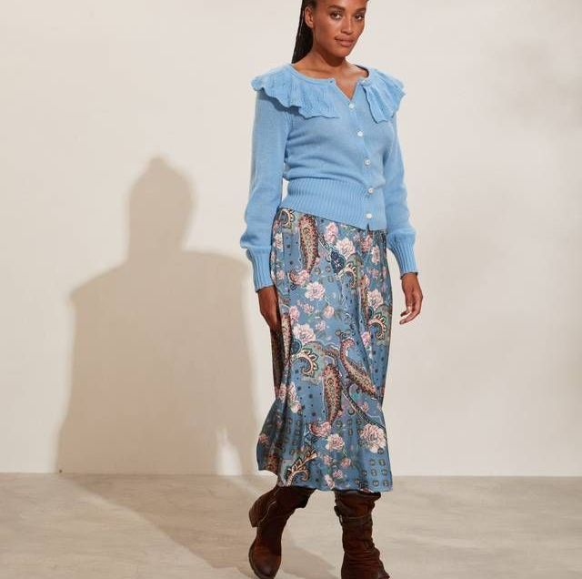 Odd Molly Demi Skirt in Moon Blue