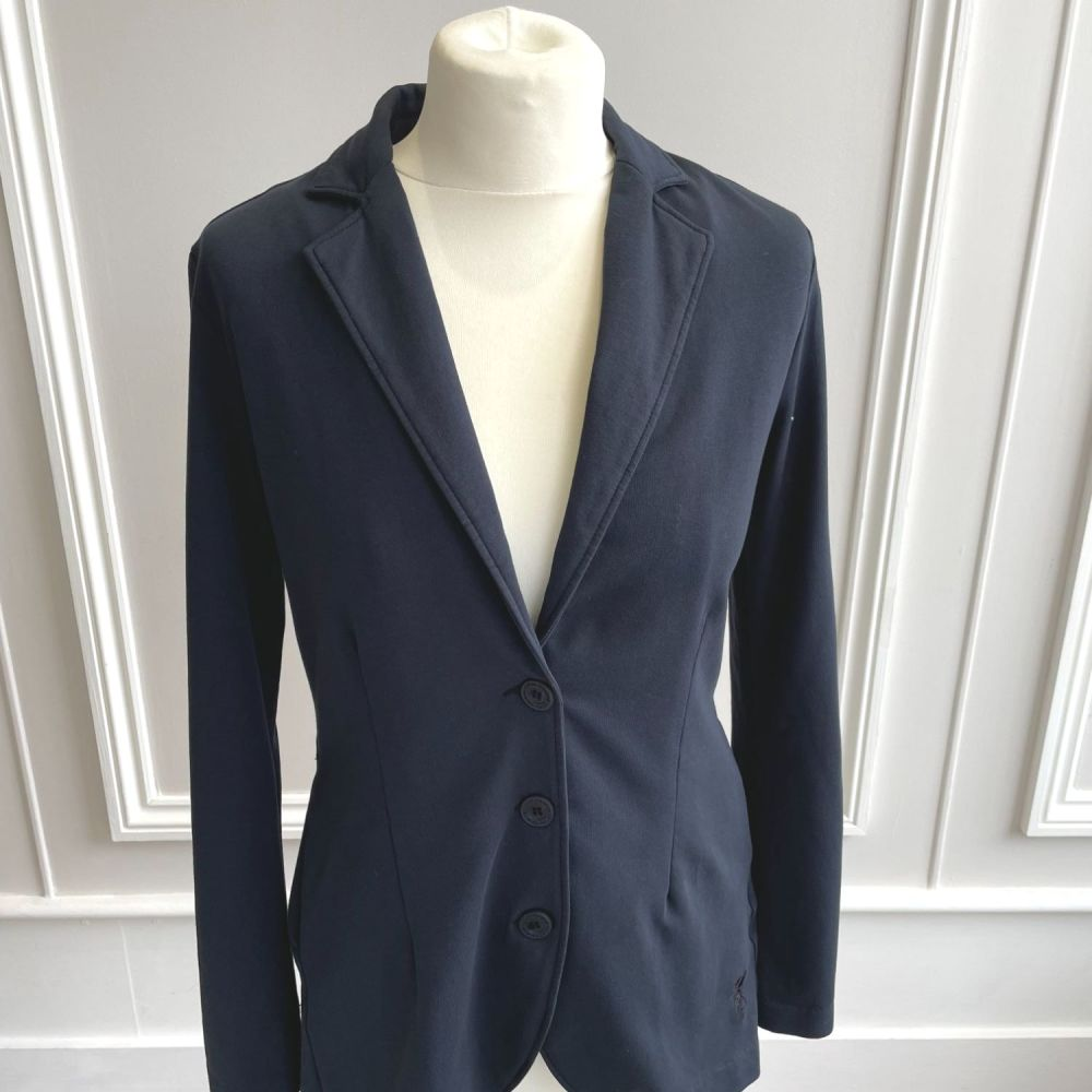 European Culture Navy Jacket with Back Detail